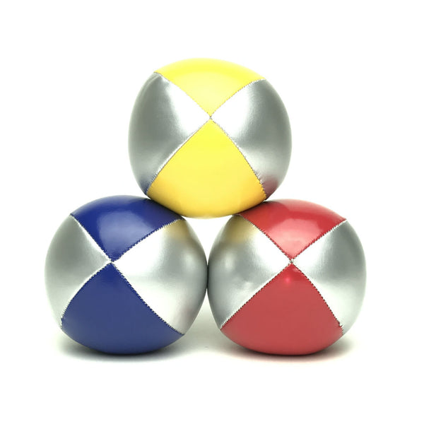 Juggling Balls Smart Silvertone - Red-Blue-Yellow - Balls for your mind
