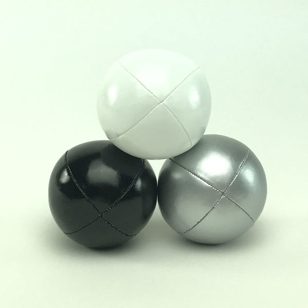 Juggling balls - smart kids – silver black white
