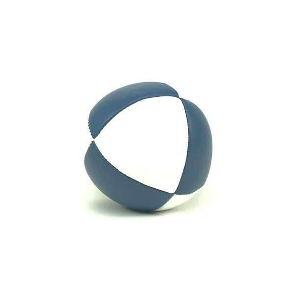 Pestige-Australian Made Ultraleather Juggling Ball-BlueWhite-BallsForYourMind