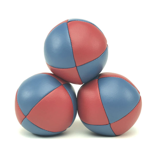 Prestige-Australian Made Ultraleather Juggling Ball-RedBlue-BallsForYourMind