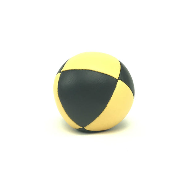 Pestige-Australian Made Ultraleather Juggling Ball-YellowBlack-BallsForYourMind