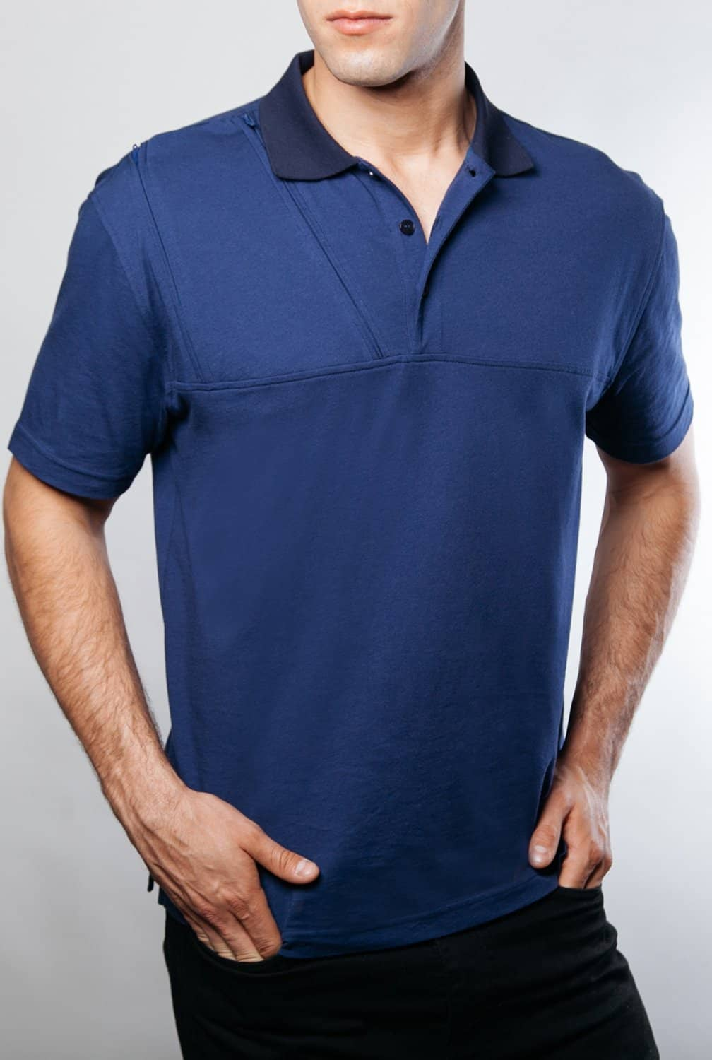 Men's Chest Access Polo Shirt - Care+Wear