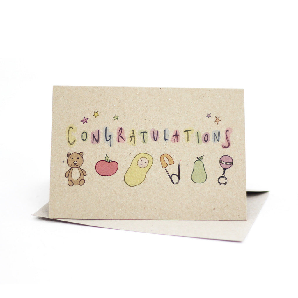 Baby congratulations (Kraft) - Pack of 5