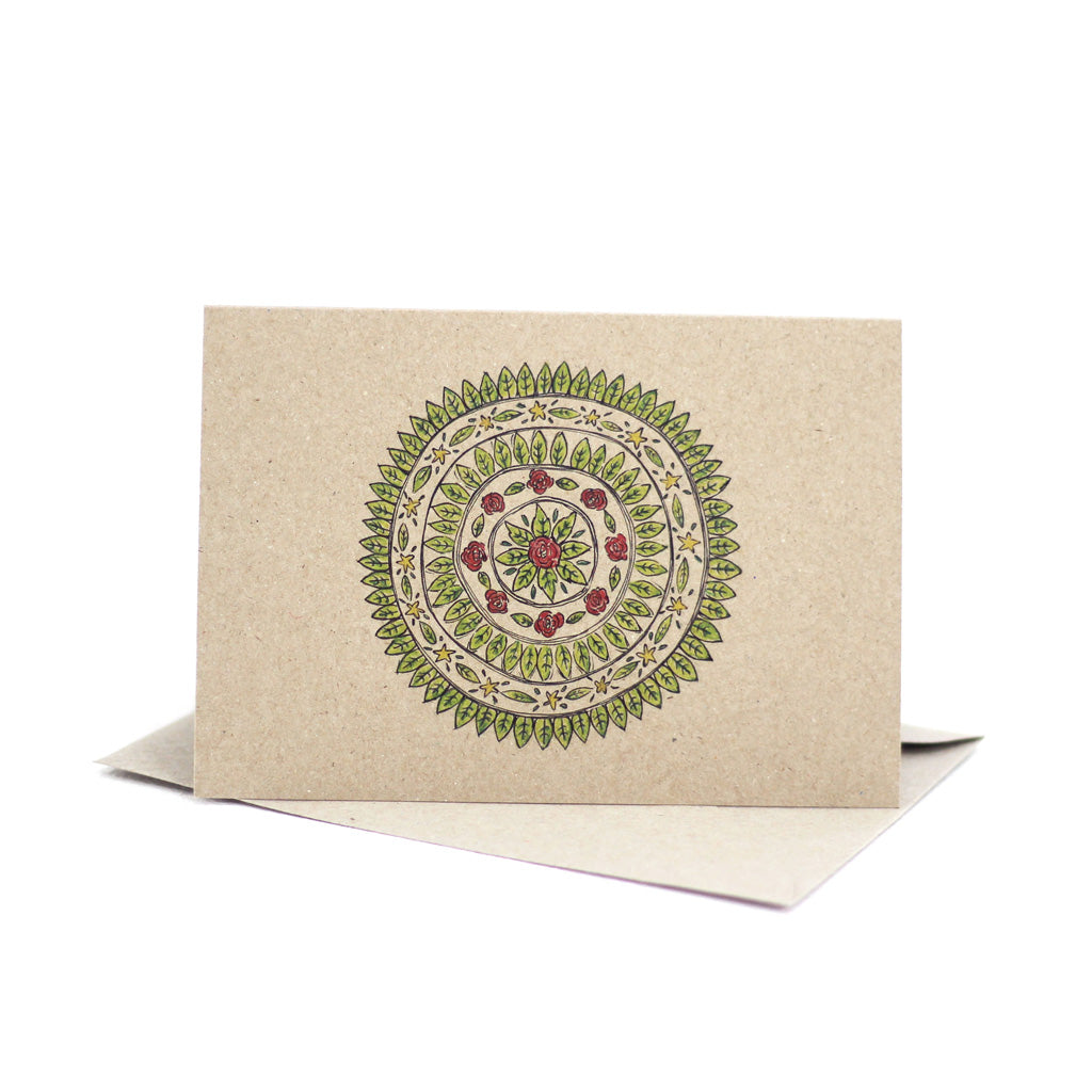 Christmas mandala (Kraft Brown) - Pack of 5