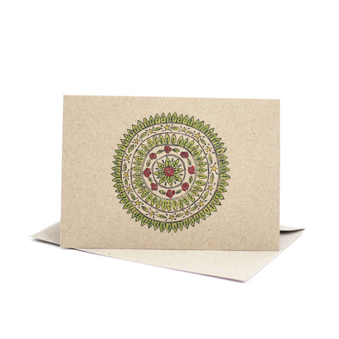 Christmas Mandala (Kraft) - Pack of 5