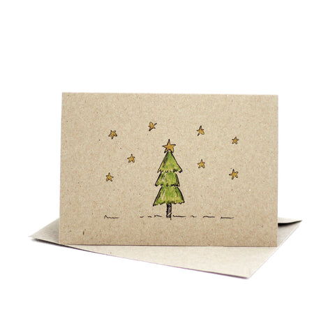 Christmas tree (Kraft) - Pack of 5