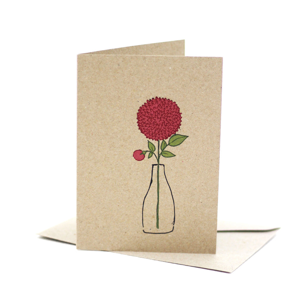 Dahlia love (Kraft) - Pack of 5