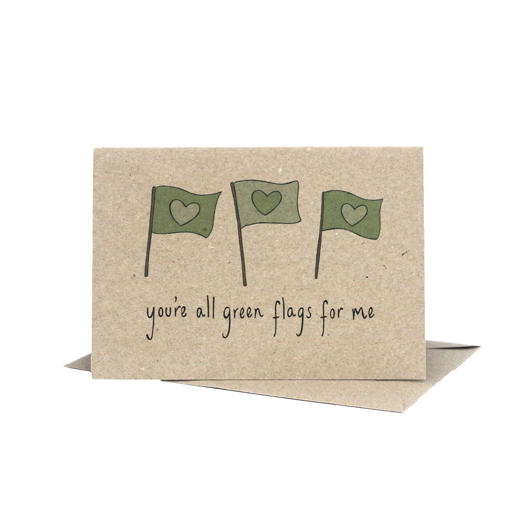 You're all green flags for me (Kraft) - Pack of 5