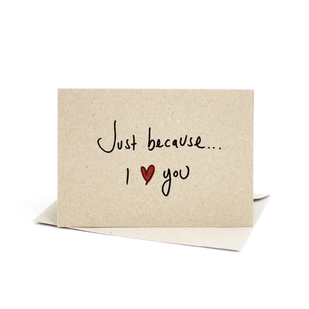 Just because I love you (Kraft Brown) - Pack of 5