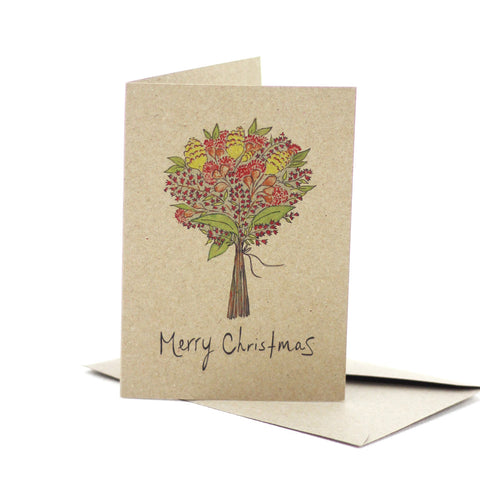 Christmas Bouquet (Kraft) - Pack of 5