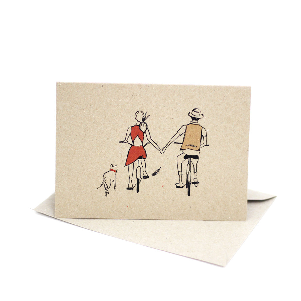 Riding bicycles (Kraft Brown) - Pack of 5