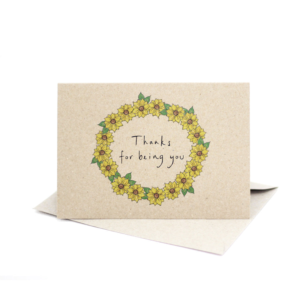 Thanks for being you (Kraft Brown) - Pack of 5