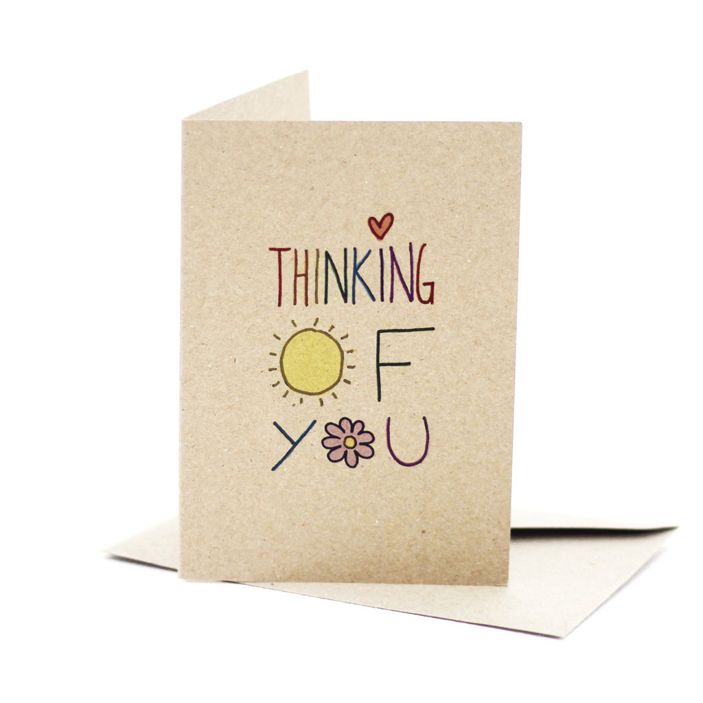 Thinking of you (Kraft Brown) - Pack of 5