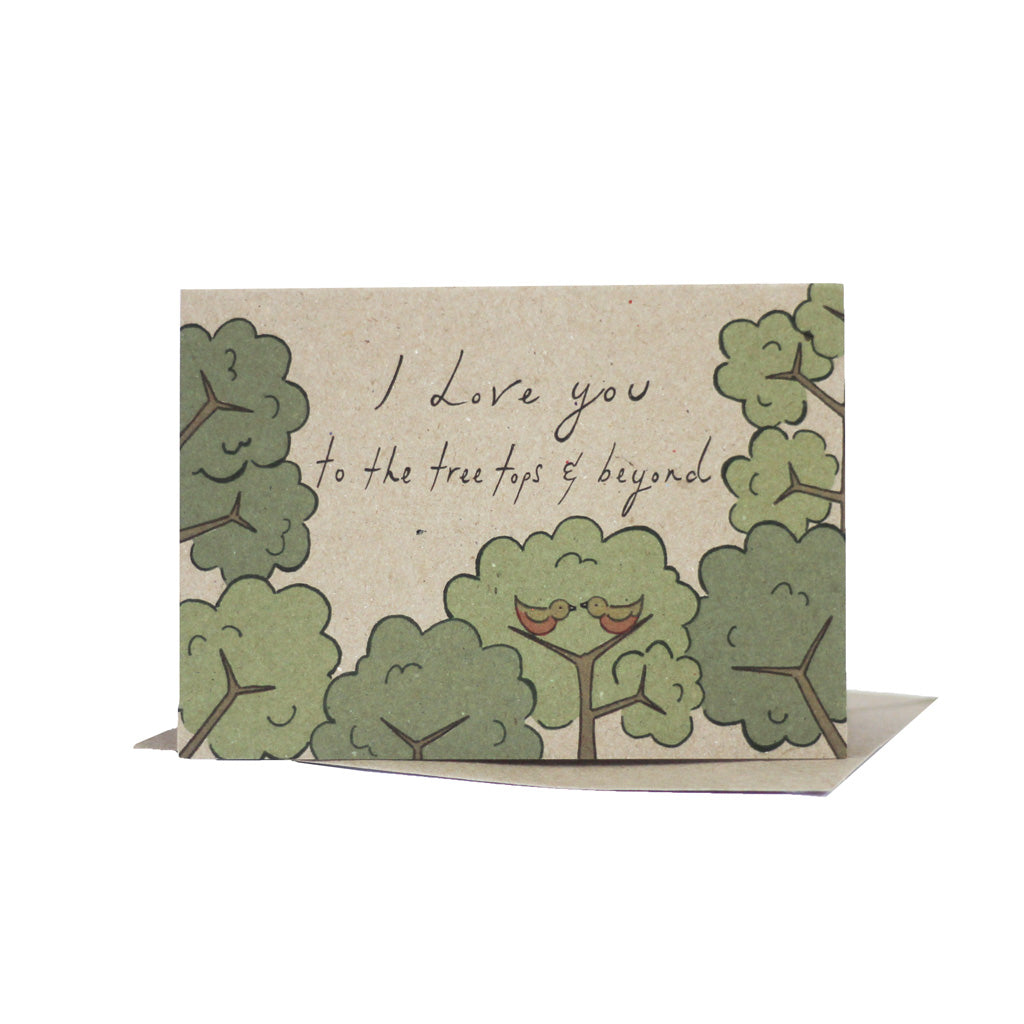 I Love You to The Tree Tops & Beyond (Kraft) - Pack of 5