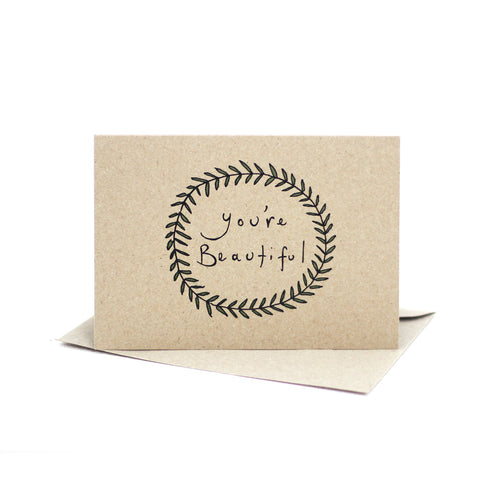 You're beautiful (Kraft Brown) - Pack of 5