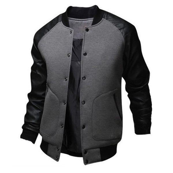 baseball style bomber jacket the style brothers. Black Bedroom Furniture Sets. Home Design Ideas