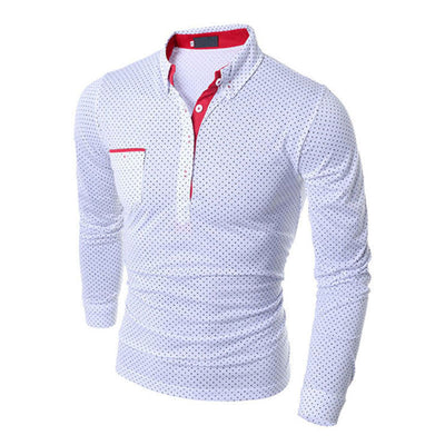 British Style Slim Fit Dotted Shirt