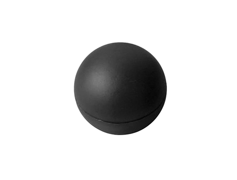 "1 7/8"" round plain BLACK shift knob - rubber coated"