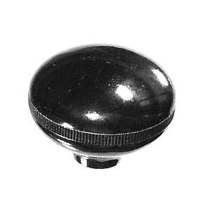 "Plain black oval ""mushroom"" gennie shift knob: 5/16""-24 for Jeep CJ + flathead Ford"