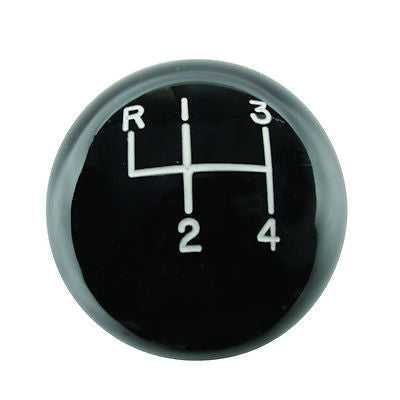 4 Speed Engraved Shift Knob Black 9 16 Quot 18 For 1964 1988