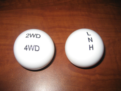 Transfer case shift knob set for Toyota Pickup / 4Runner twin stick conversion