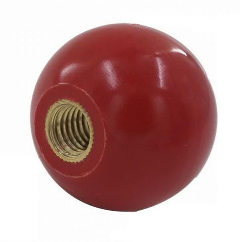 "1 7/8"" round plain RED shift knob"