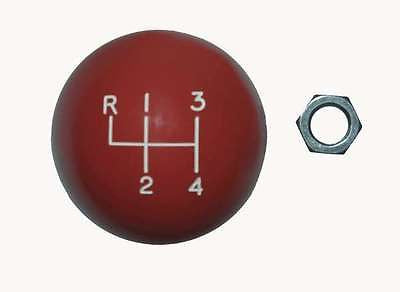 "4 speed engraved shift knob RED: 5/16""-18 for GM / Muncie chrome shifters"