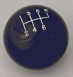 "6 speed RUR engraved shift knob BLACK: 3/8""-16 for Hurst chrome sticks"