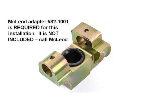 Shifter base for T56 forward conversion using McLeod mid-shift socket - NO  OTHERS!