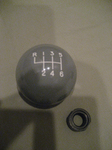 6 speed RUL engraved shift knob GRAY: M12 x 1.25 for 2005-2015 Toyota Tacoma V6 + FJ Cruiser