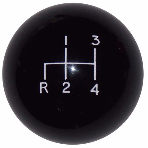 4 speed RDL engraved shift knob BLACK: M12x1.25 for 1981-1987 Toyota Land Cruiser FJ60