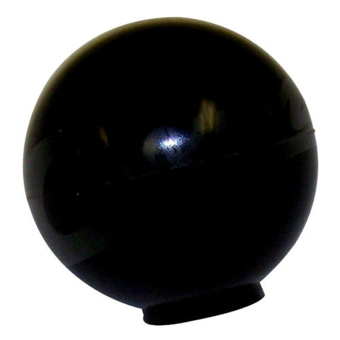 Plain black small round shift knob for Dana 18 transfer case or T84 trans for 1941-1971 Jeep CJ