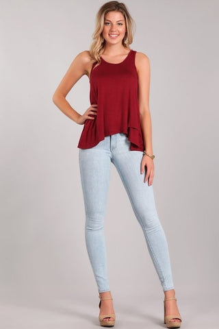 Cabernet Layered Tank Top