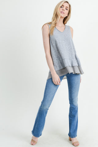 Ruffle bottom Tank Top