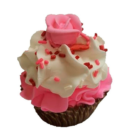 Chocolate Covered Strawberry Cupcake Bath Bomb