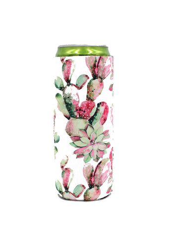 Pink Cacti Slim Can Cooler