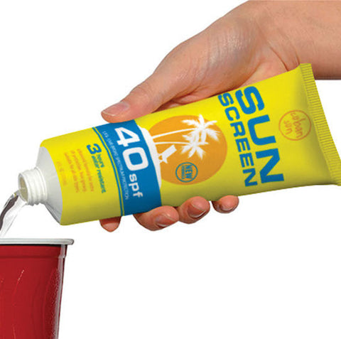 Fake Sunscreen Flask
