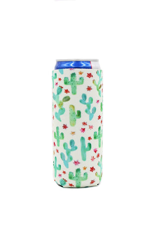 Blooming Cactus Slim Can Cooler