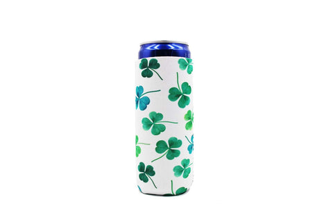 Shamrock Clovers Slim Can Cooler