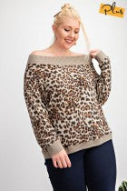 Off The Shoulder Leopard PLUS size
