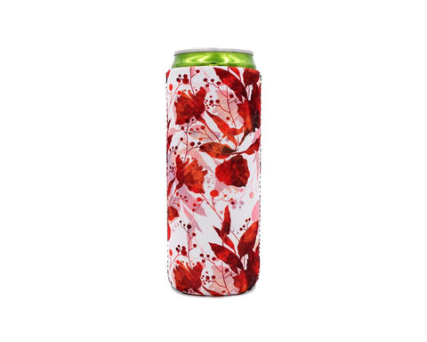 Fall Leaves Slim Can Cooler