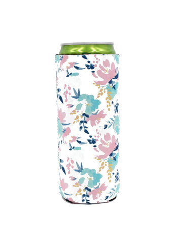 Floral Slim Can Cooler