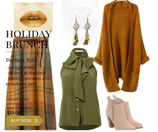what to wear to a holiday brunch
