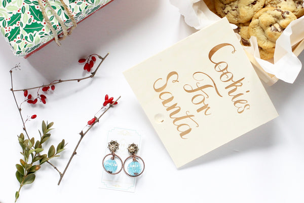 20 things to do this holiday season hattitude jewellery earrings and cookies for santa box