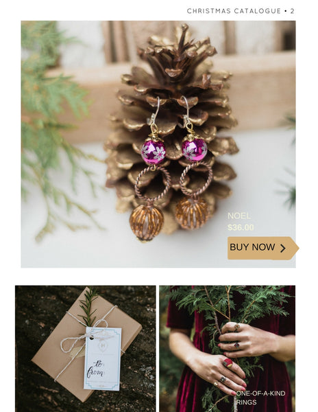 christmas catalogue by hattitude jewels handmade using repurposed vintage pieces in canada