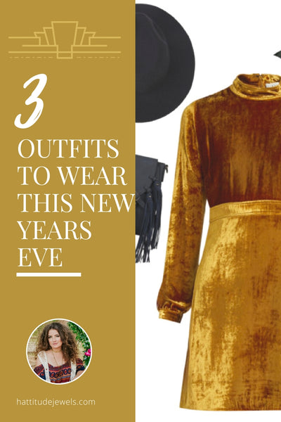 3 outfit ideas to wear for new years eve by hattie dunstan of hattitude jewels