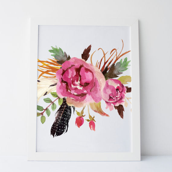 floral cool wall print handmade in canada 5 great gift ideas for the gardener/florist/flower lover in your life