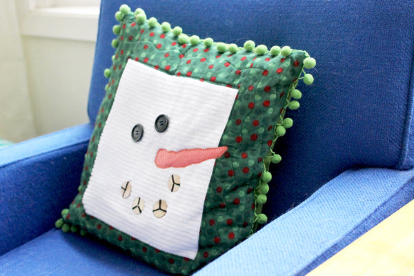 christmas threw up in hattitude jewels apartment snowman pillow