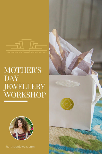 mother's day jewellery workshop in caledon, ontario, experience gift with your mom and sister