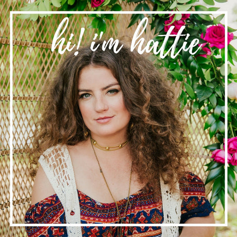 hi i'm hattie, jewelllery designer, content marketer, and social strategist